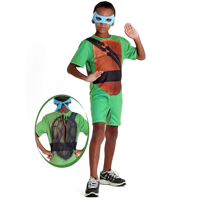 Fantasia Tartarugas Ninjas Leonardo - Curta - Infantil