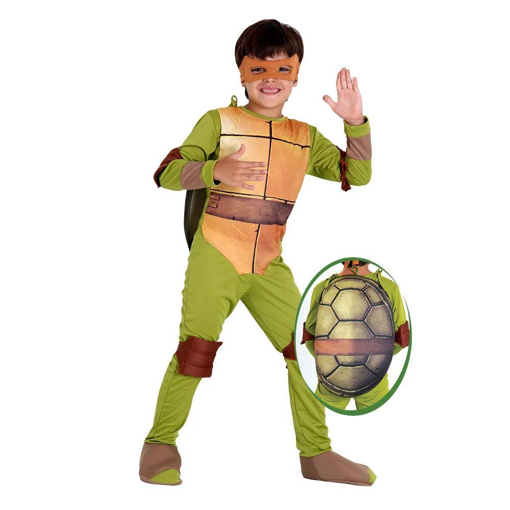 Fantasia Tartarugas Ninjas Michelangelo - Infantil