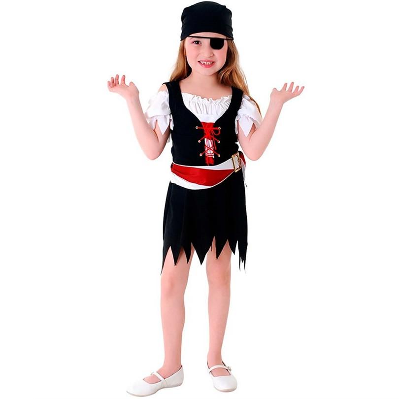 Fantasia Vestido Pirata Infantil
