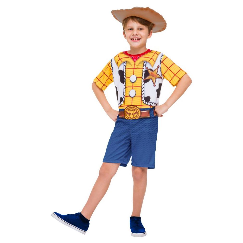 Fantasia Woody Infantil Pop Curta com Chapéu