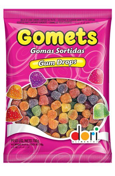 Gomets Gum Drops Sinos Sortidos 700g