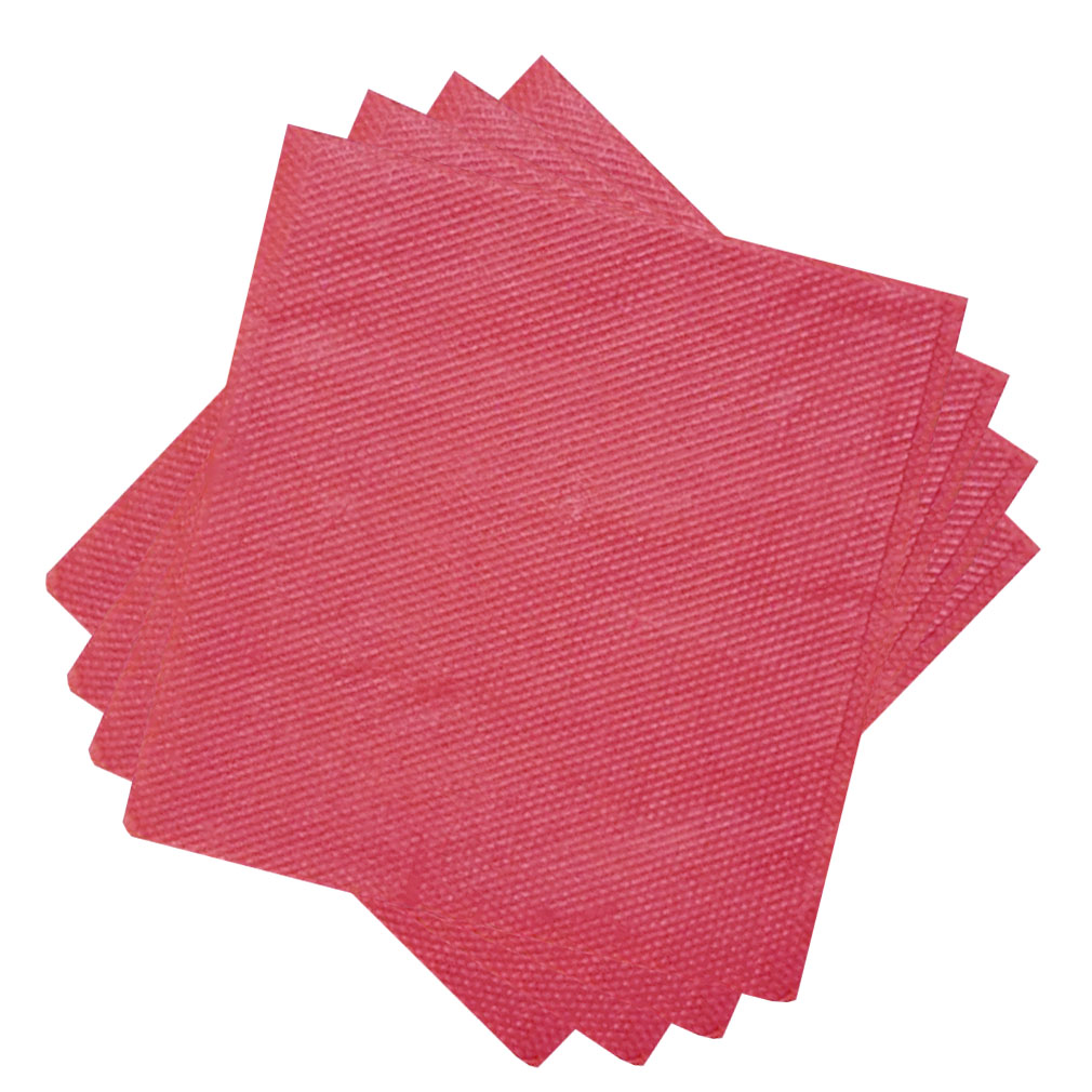 Guardanapo de Papel Vermelho 30cm x 31cm - 50 Unidades