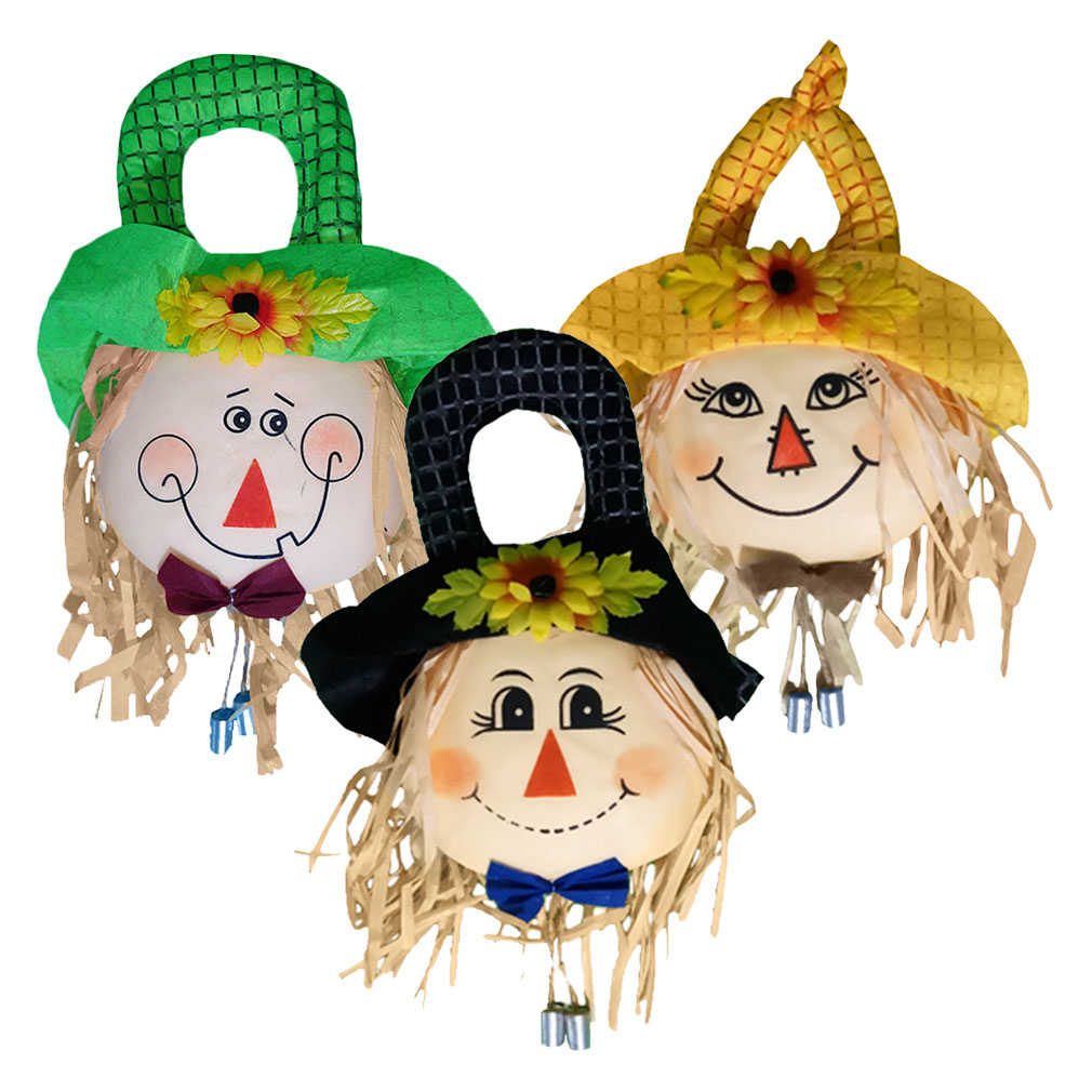Guirlanda de Festa Junina Espantalho com Chapéu - 40cm x 20cm