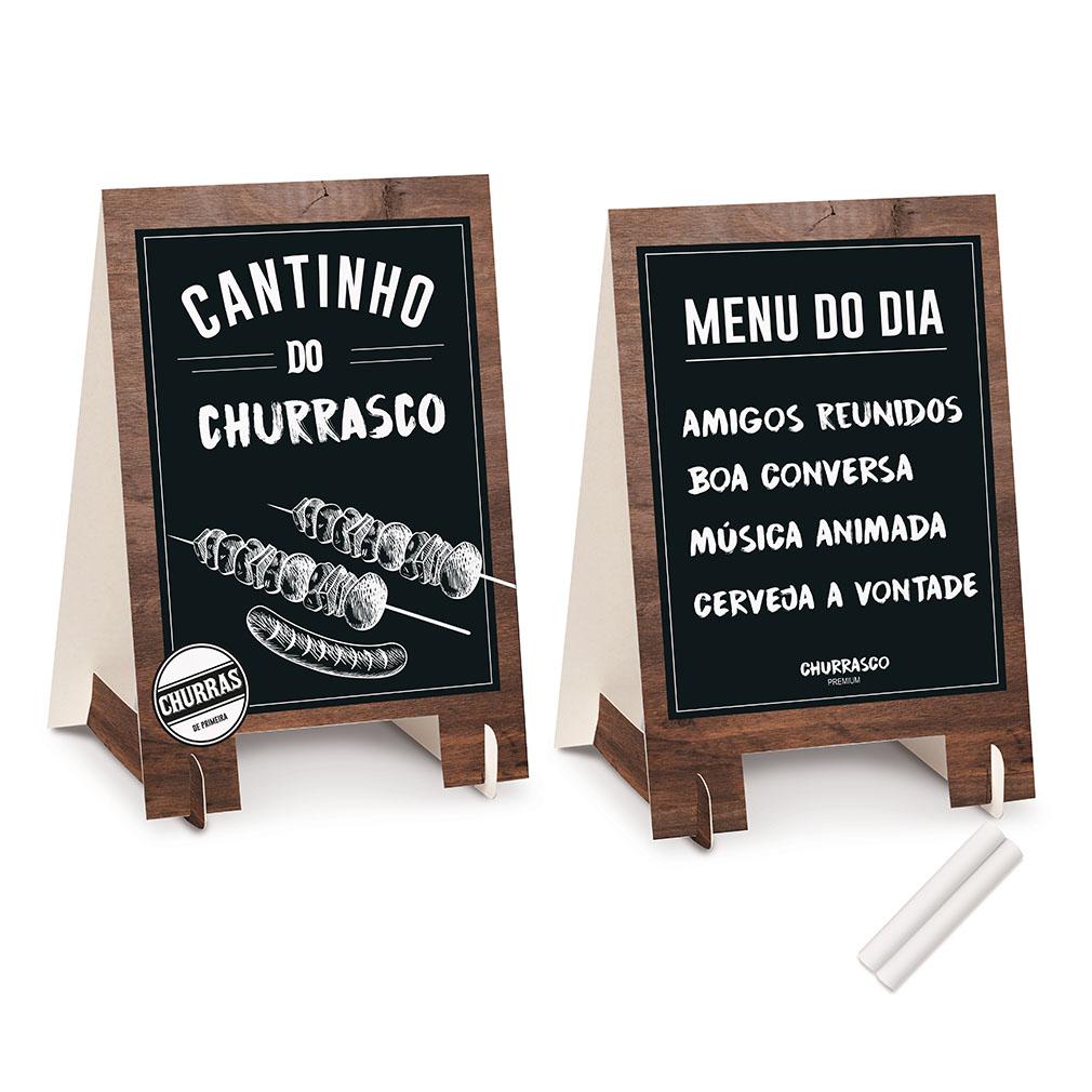 Kit Decoração de Mesa Churrasco Cavalete - 2 Unidades