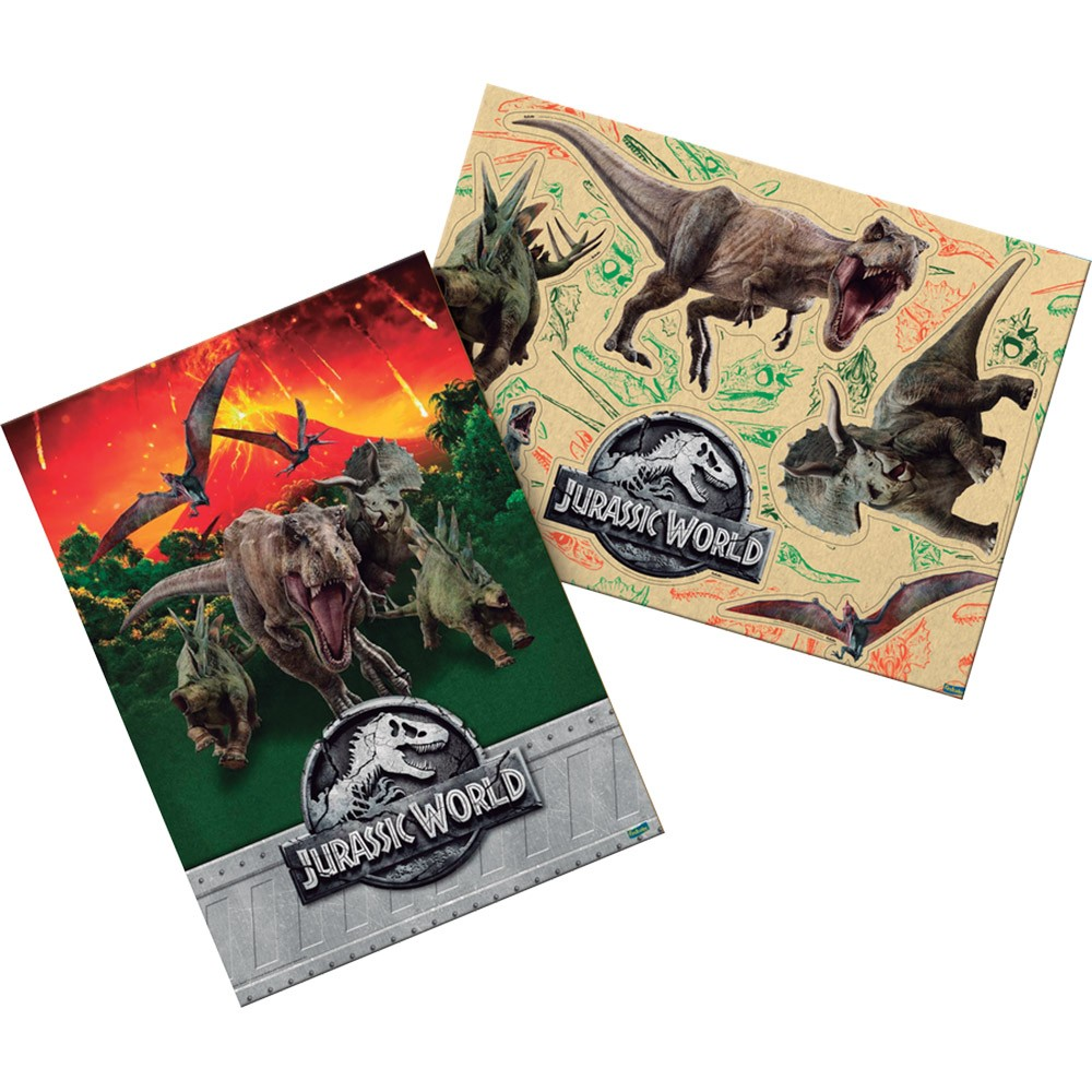 Kit Decorativo Jurassic World - 7 Itens