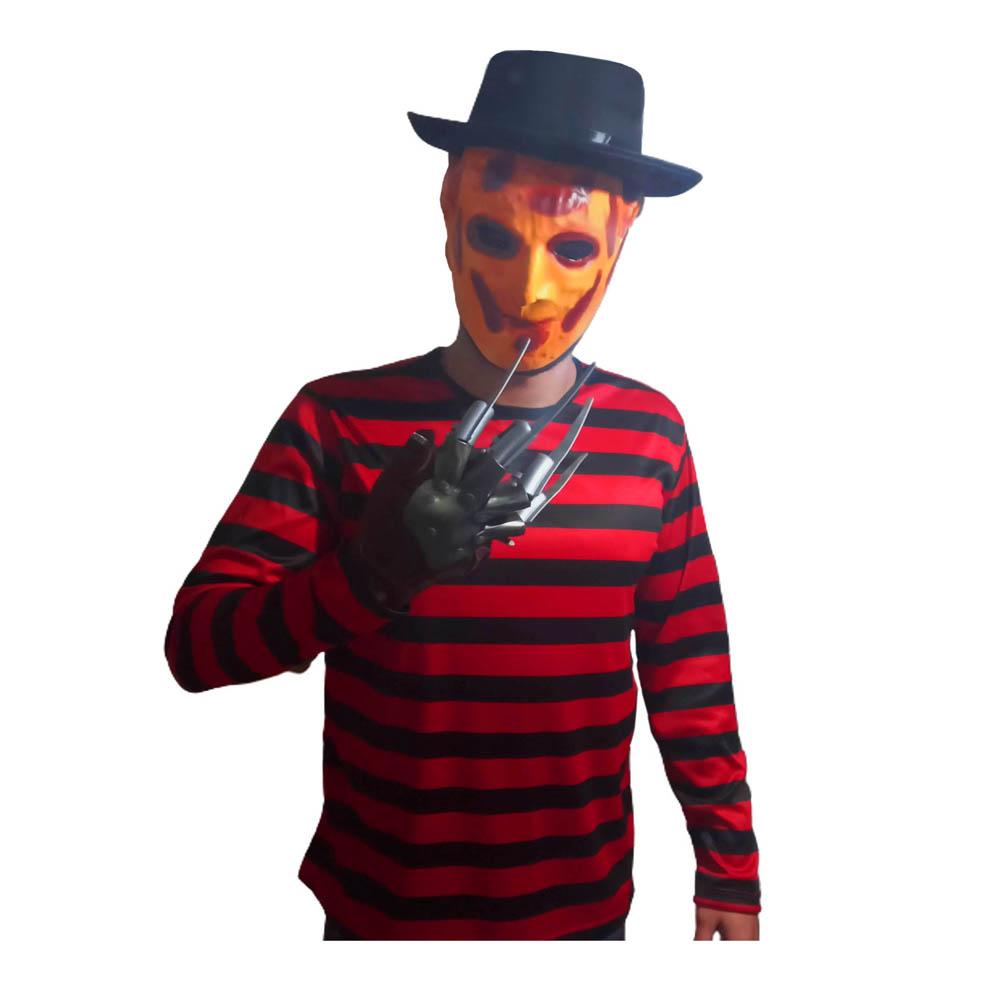 Kit Fantasia Freddy Krueger Halloween - Adulta