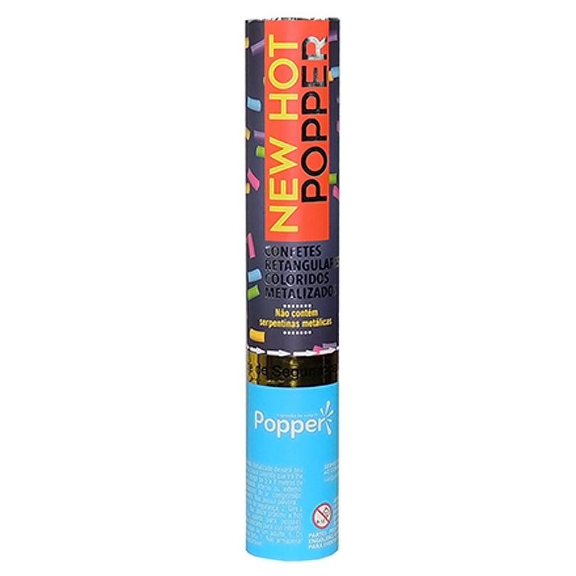 Lança Confete Colorido Metalizado Popper - 30cm