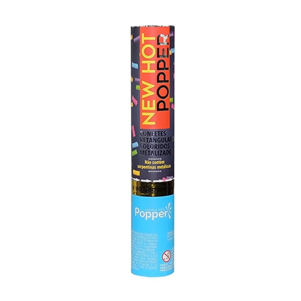Lança Confete Retangular Colorido Metalizado - 30cm