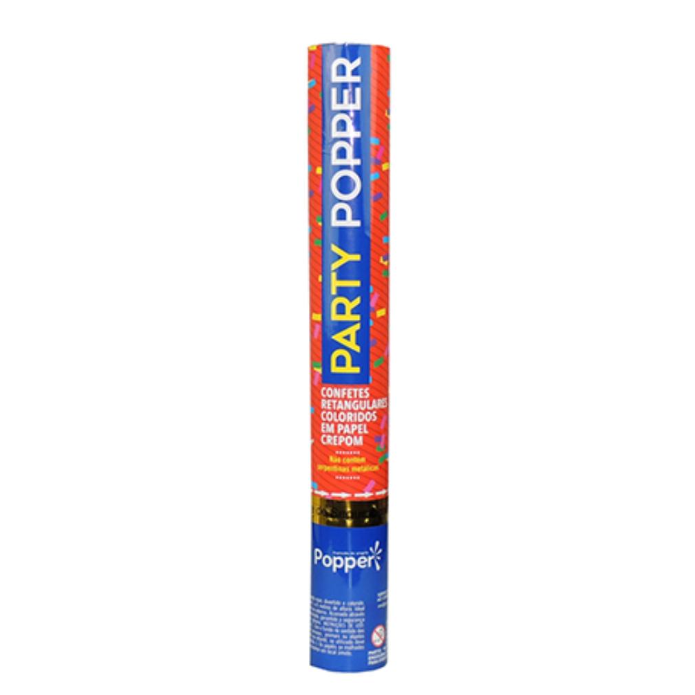Lança Confete Retangular Colorido Papel Crepom - 40cm