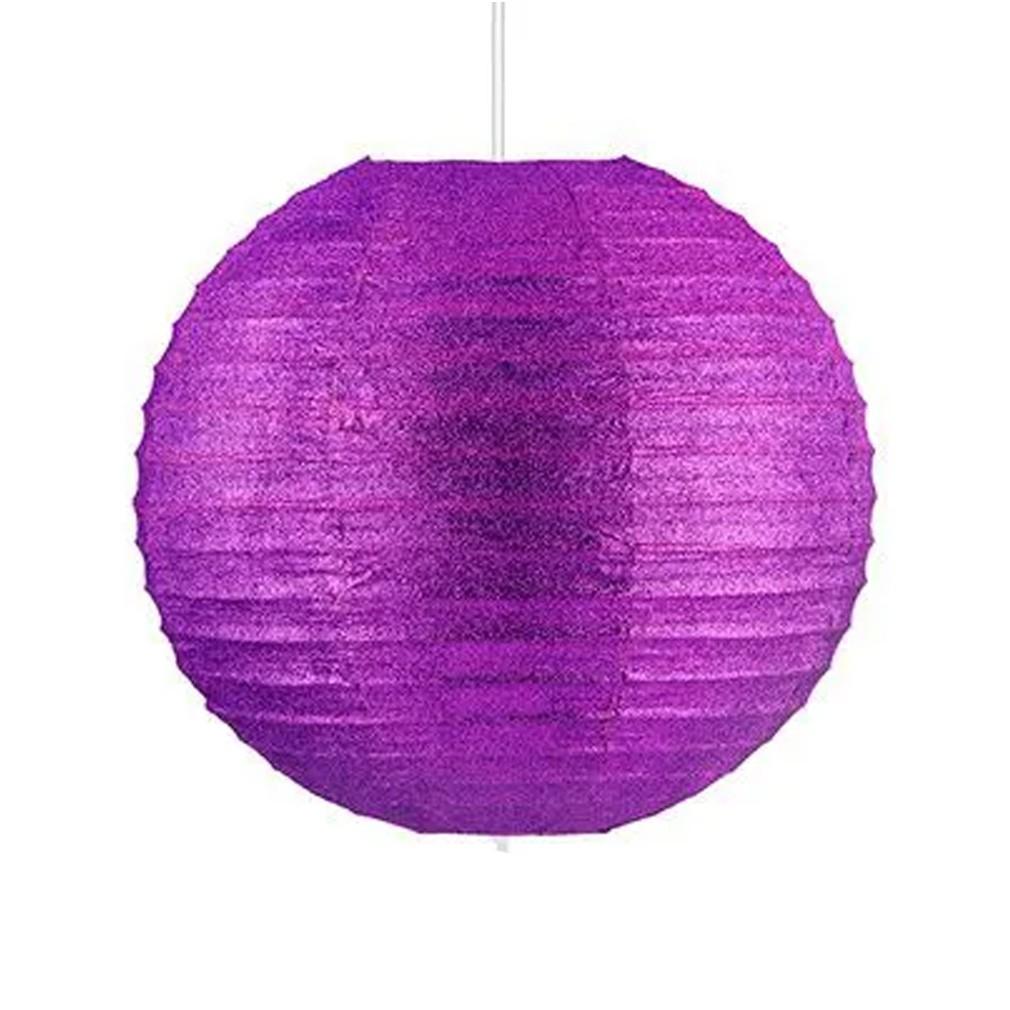 Lanterna com glitter 20cm