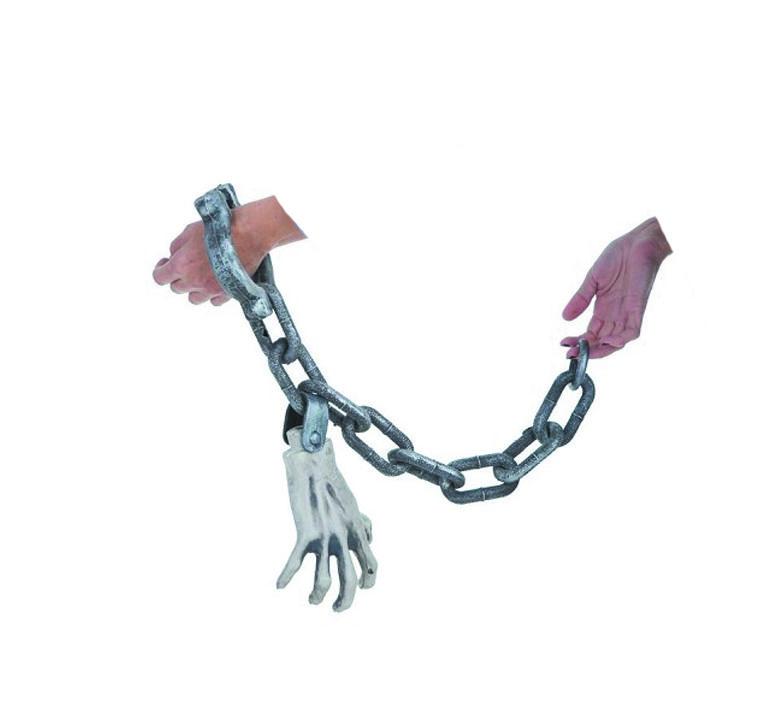 Mão acorrentada - Enfeite Halloween