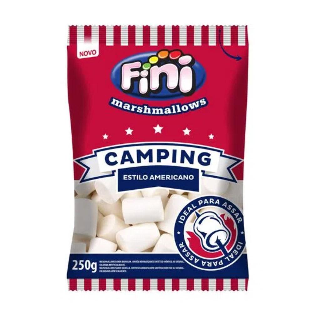 Marshmallow Camping Estilo Americano Branco Fini - 250g