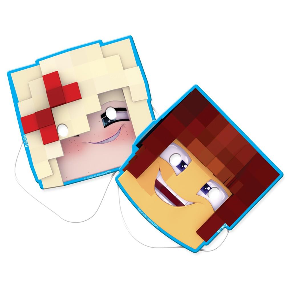 Máscara Authentic Games - 8 Unidades