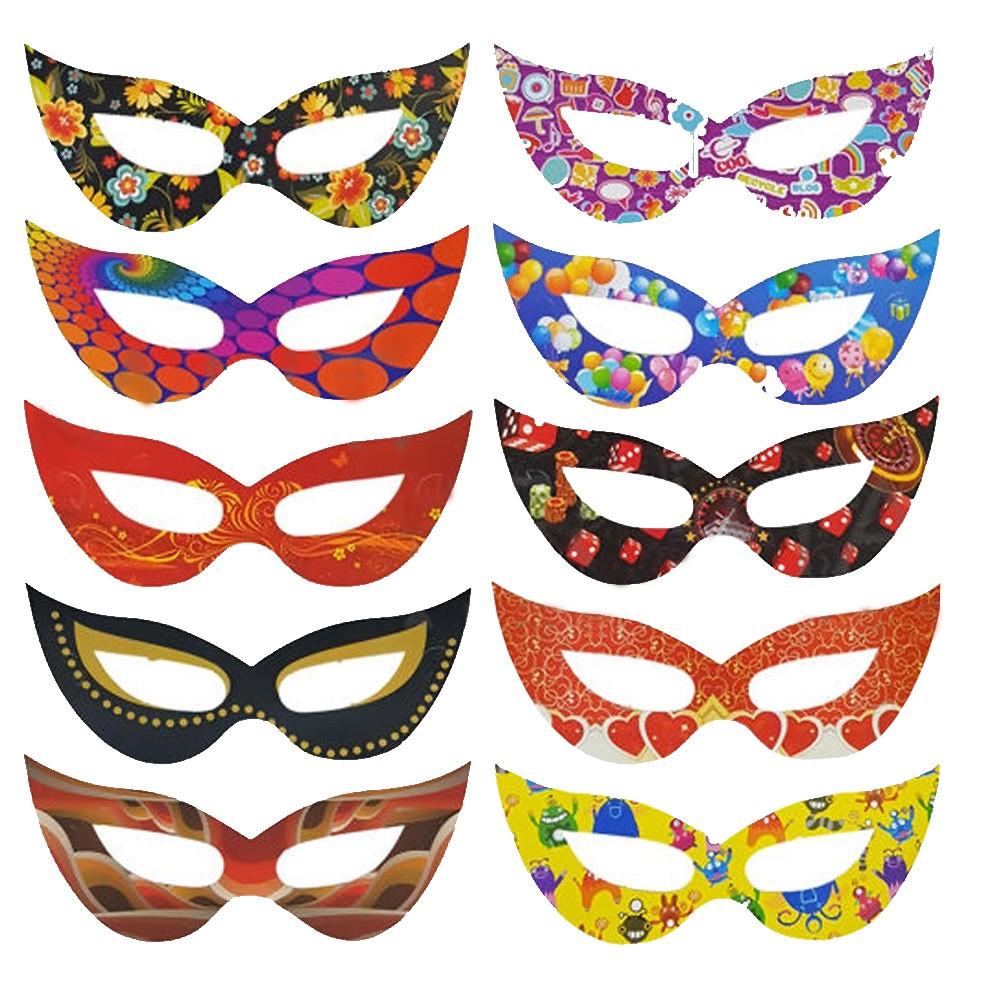 Máscara de Carnaval Gatinha Sortida - 10 Unidades