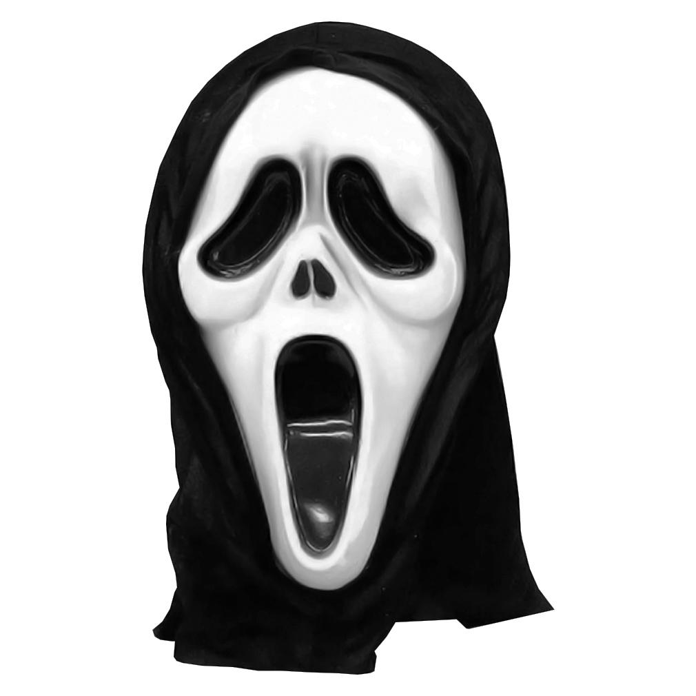 Máscara do Pânico de Plástico com Capuz