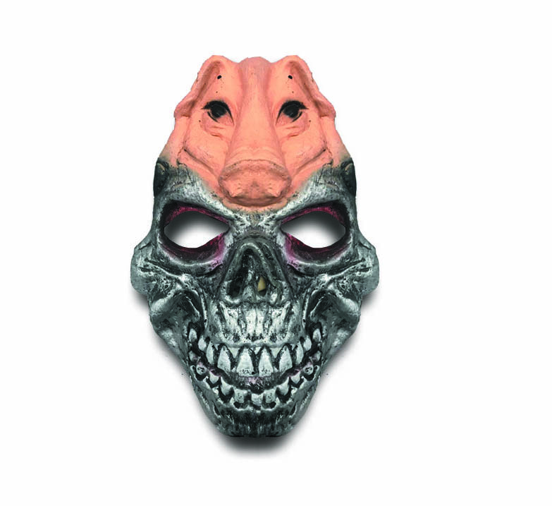Máscara de Caveira com Porco Halloween