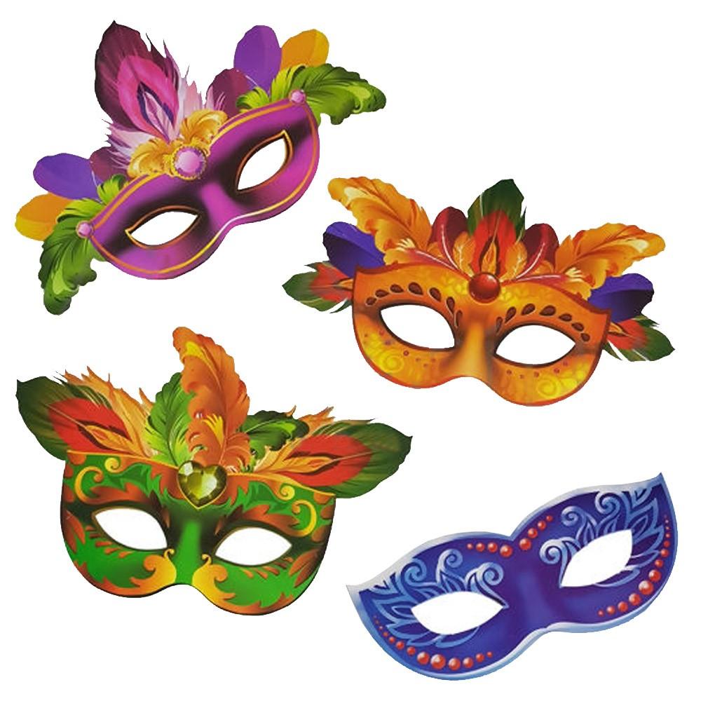 Máscara Veneziana de Carnaval - 4 Unidades
