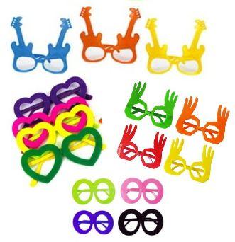 Óculos de festa sem lente - 10 unidades