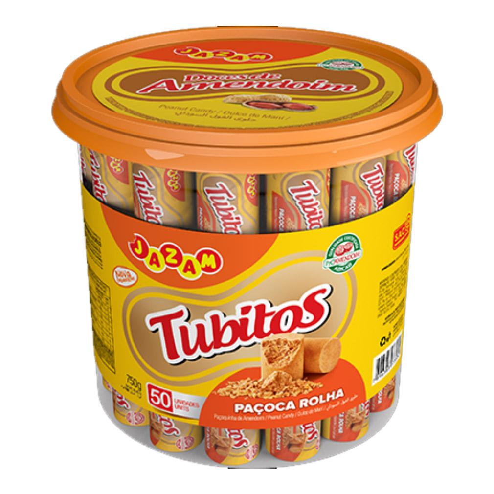 Paçoca de Amendoim Rolha Tubitos - 750g