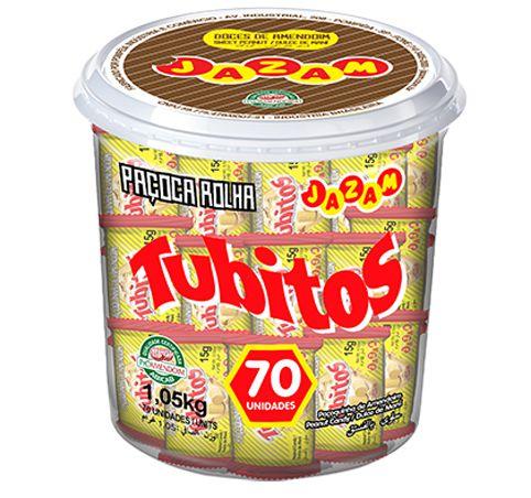 Paçoca Tubitos 1,05kg - Pote
