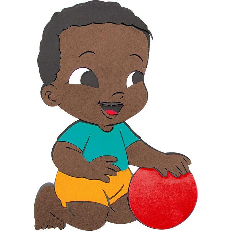 Painel Bebê Negro com Bola - E.V.A