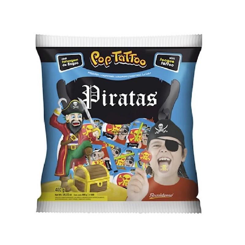 Pirulito Morango Piratas - 400g