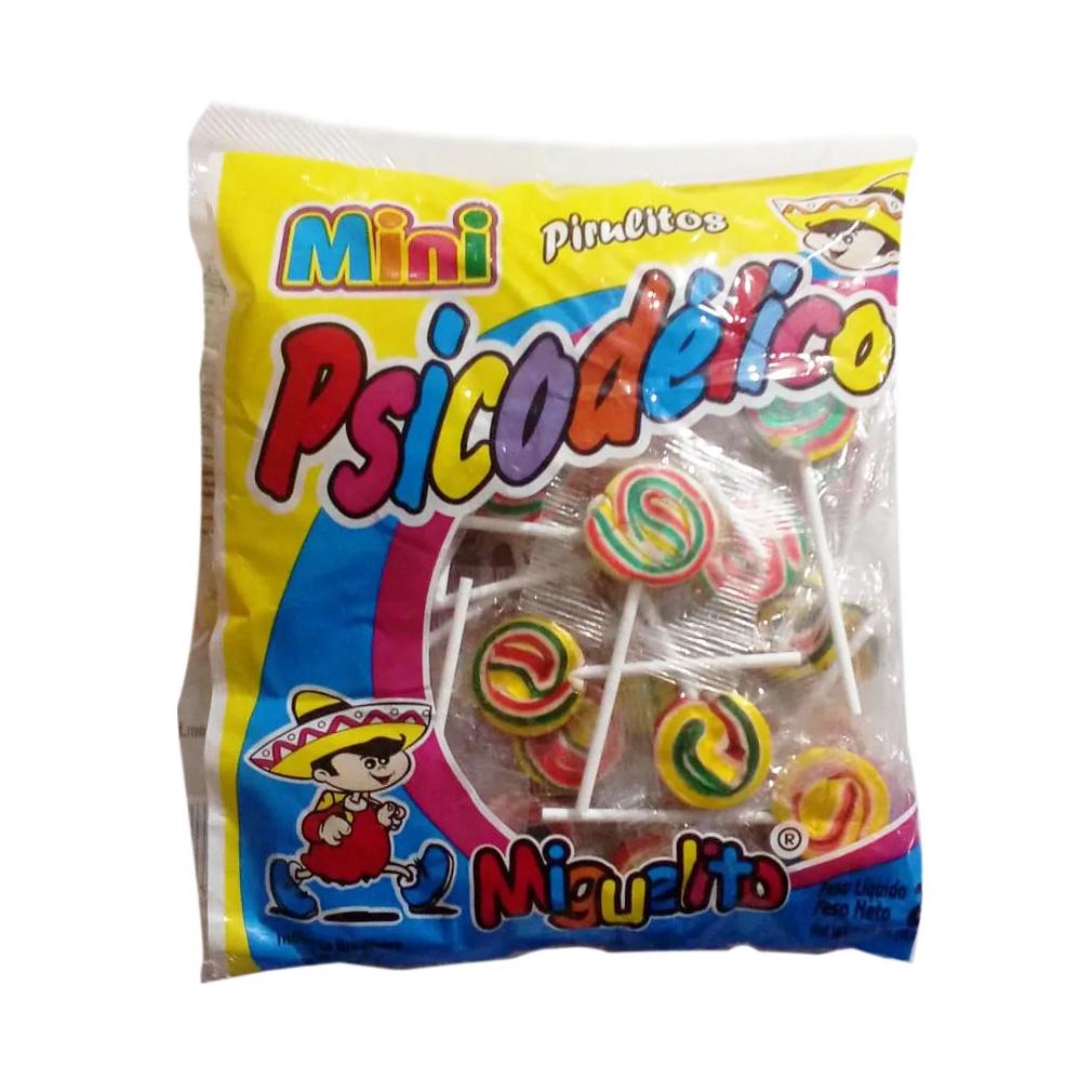 Pirulito Psicodélico Miguelito Mini - 200g