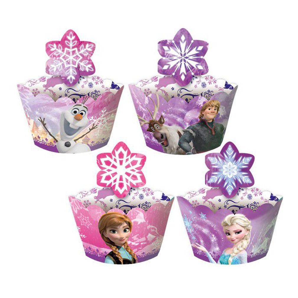 Porta Cupcake Wrapper Frozen - 12 unidades