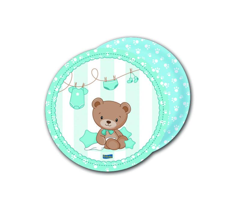 Prato Baby Shower Ursinho