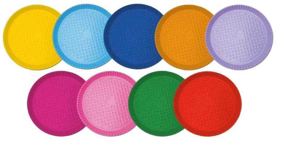 Prato de Papelão P5 - Liso  - cores