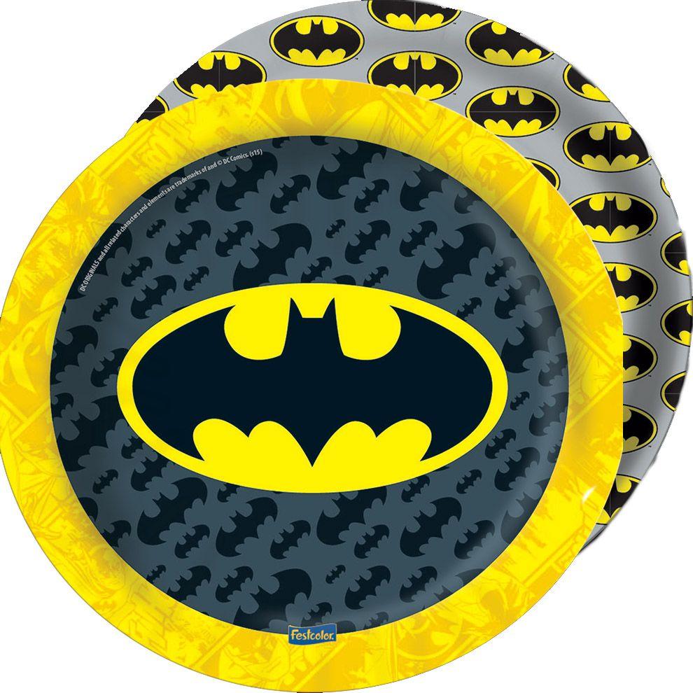 Prato descartável Festa Batman