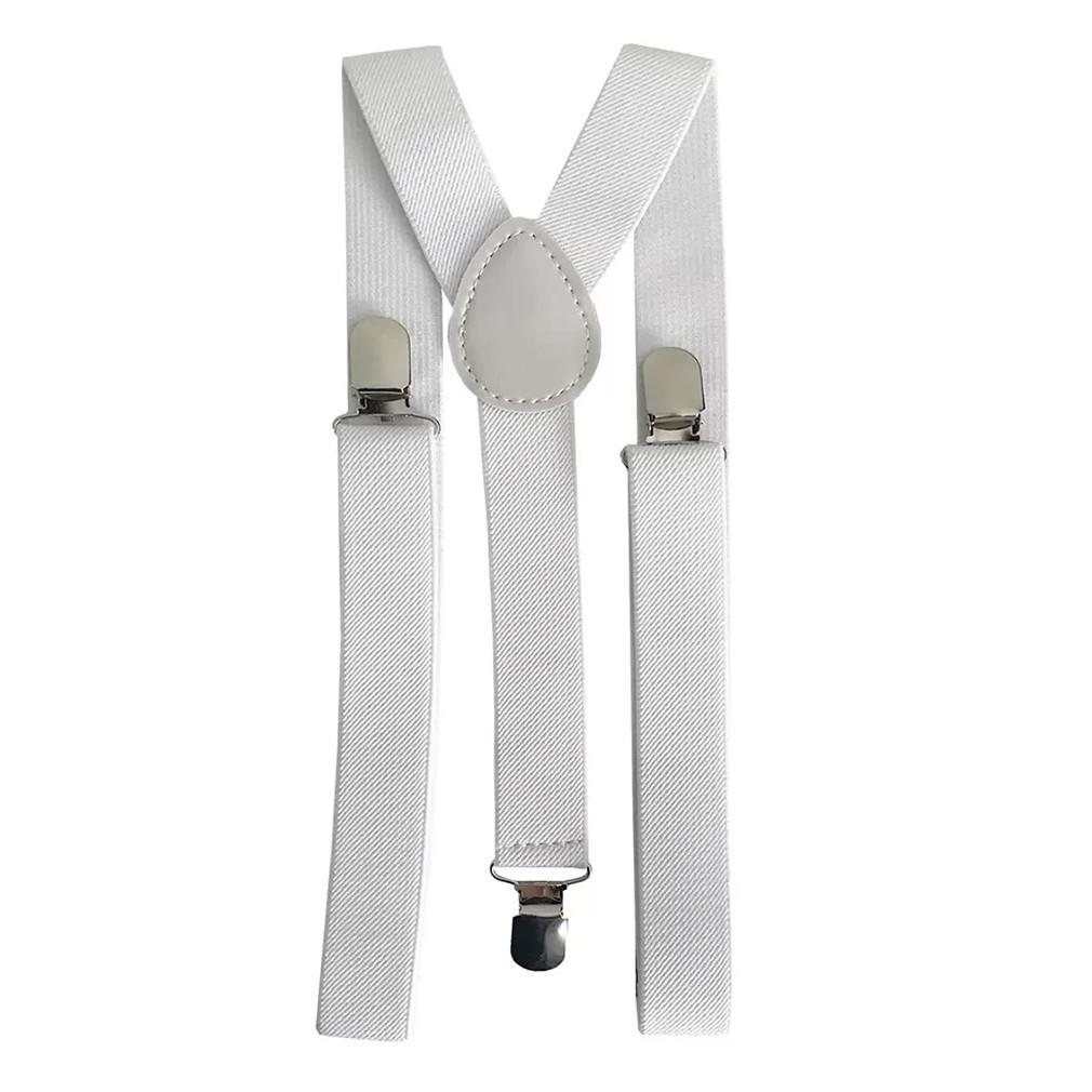 Suspensório Masculino Ajustável Branco