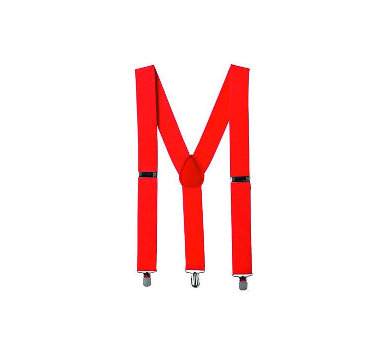 Suspensório Masculino Ajustável Vermelho