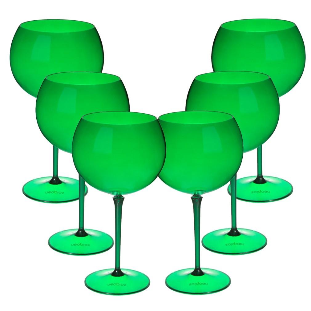Taça de Gin Verde Esmeralda London Curves Translúcida - 600mL - 6 Unidades