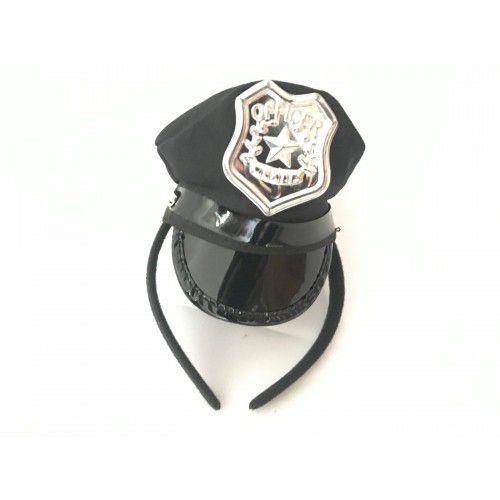 Mini quepe de policial com tiara