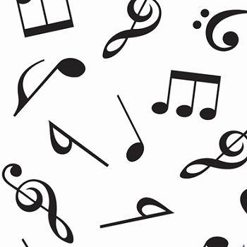 Tnt Estampado Notas Musicais - 5 Metros