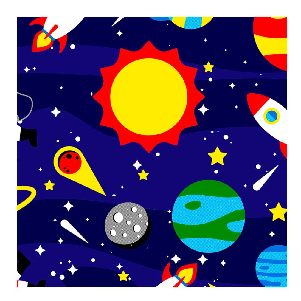 Tnt Estampado Astronauta - 5 Metros
