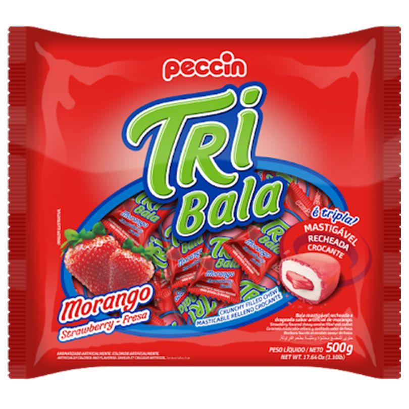 Bala Tri Bala Morango - 500g