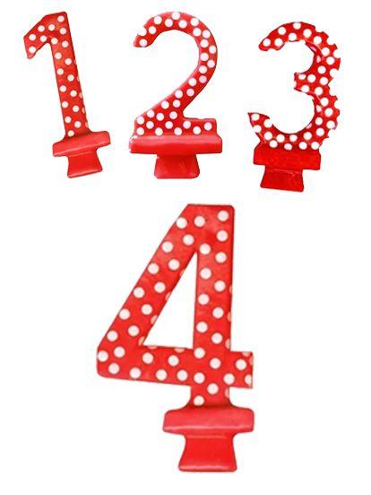 Vela de Aniversário Poá Números