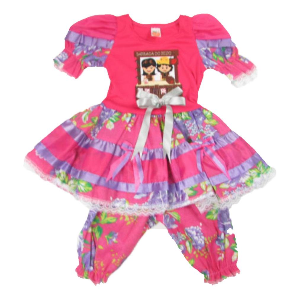 Vestido Infantil de Festa Junina Barraca do Beijo