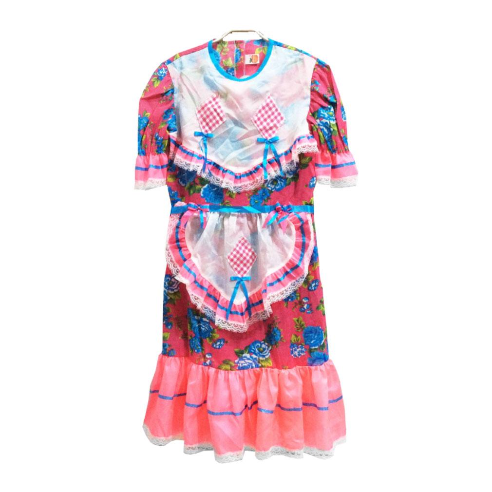 Vestido Infantil de Festa Junina Chita Floral