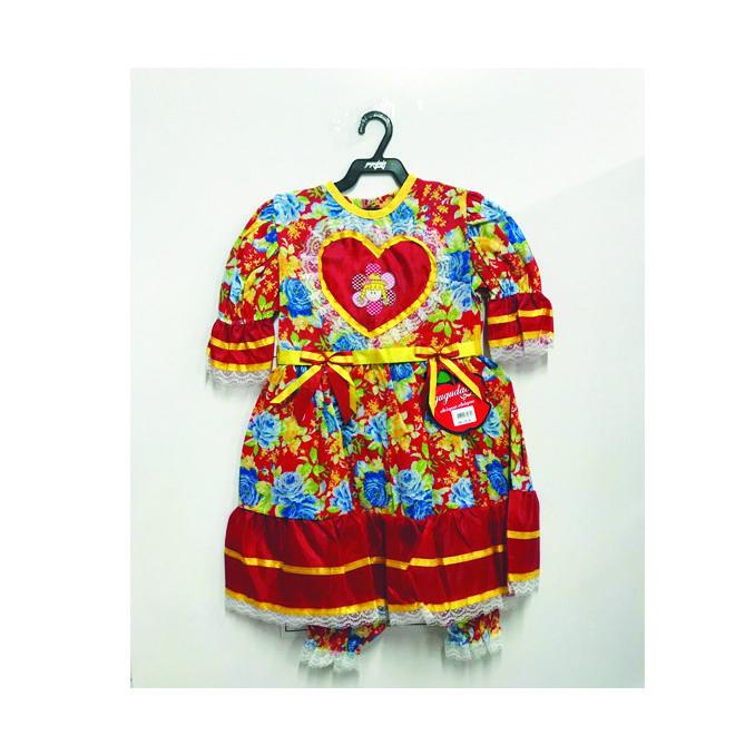 Vestido Junino Juvenil Boneca