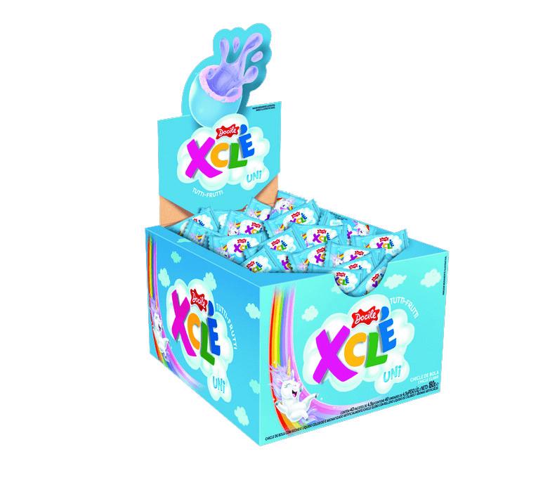 Xclé Tutti-Frutti Unicórnio - 40 unidades