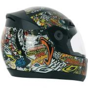 Capacete Evolution 3G Sticker BOMB Preto
