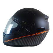 Capacete EBF BLACK Edition Fosco Preto e Laranja