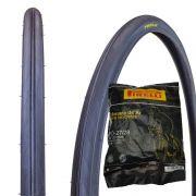 Pneu Bicicleta 27 X 1.1/4 Pirelli JET Caju + Câmara Bico Grosso Pirelli PO-27/28
