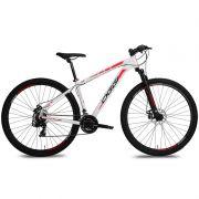 Bicicleta MTB OGGI Hacker SPORT 2017 29 21V BRANCO/VERMELHO