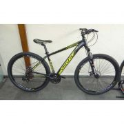 Bicicleta MTB Venzo Falcon EVO ARO 29 21V Cambio Shimano Preto e Amarelo