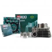 Kit Cilindro Motor + Pistão + ANEL Fazer 250 / Lander 250 (nikki GOLD)