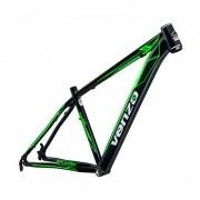 Quadro Bicicleta MTB 29 Venzo Falcon ALUM PRETO/VERDE